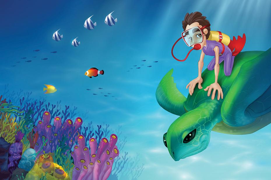 Ammar in Deep Sea (Book Cover)